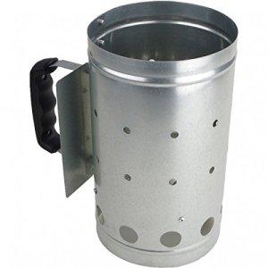 Cheminée d'allumage XXL démarreur à charbon en acier avec poignée et protection