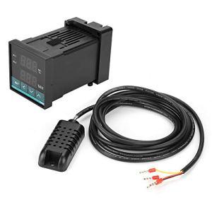 Eurobuy Thermostat de Contrôleur de Température Et D'humidité à Affichage Numérique à LED avec Sortie Relais -19. 9~80. 0Celsius 0. 0~99. 9% HR