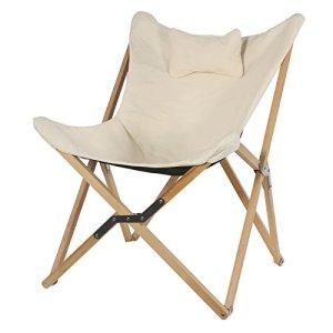 Fauteuil naturel structure en bois pliable Papillon Chaise Lounge Fauteuil 99x 73x 81cm