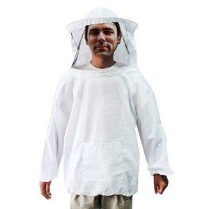 Gants de veste d'apiculture Veste blanche Voile d'escrime pour les apiculteurs professionnels et débutants