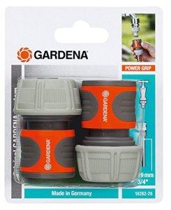 Gardena 18282-26 2 Raccords d'Arrosage Rapides pour Tuyau Plastique, Orange