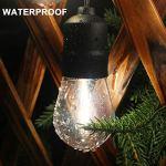 Guirlande lumineuse LED étanche 12,6 m, 25 ampoules LED incassables à basse tension, connectables, décoration intérieure et extérieure pour Noël, mariage, jardin, jardin, terrasse, etc.