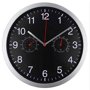 Horloge de jardin innovante de 10 pouces Grande horloge murale avec température et humidité Horloge suspendue silencieuse à piles pour jardin extérieur Clôture Jardin Terrasse Garage Intérieur