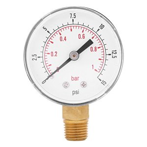 Jauge de basse pression pour l'huile d'air de carburant ou l'eau Bottle BSPT 0-15psi / 0-1bar