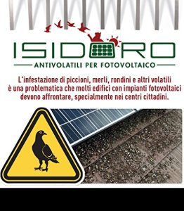 Kit anti pigeons universel inoxydable pour Photovoltaïque Comprend Tous Les Accessoires nécessaires à l'installation garantie 25ans 50 mt. di perimetro noir