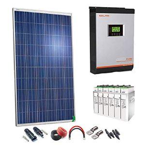 Kit solaire 24V 2000W/10000W Journée inverseur multifonction 3kVA Régulateur MPPT 60A Batterie 5topzs 812Ah