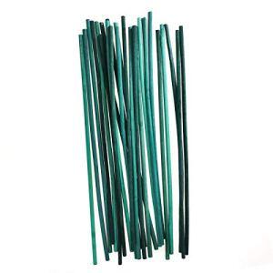 Kungfu Mall Bâtonnets de Soutien pour Plantes Bâtonnets de Fleur en Bambou – Plante de Jardin de 12 Pouces pour développer Un Support en Bois (Paquet de 100)