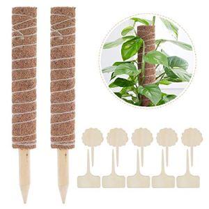 Lemecima 43cm 2 PiècesSupport Tuteurs pour Plantes Grimpantes Tuteur en Fibres de Coco Bâton de Mousse de Coco pour Plantes Grimpantes Bâton de Coco Jardin Plante Extension de Support de Plante
