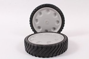 Lot de 2Authentique MTD 753–0809220,3x 5,1cm de roue avec Gear Compatible avec Troy Bilt MTD Pro