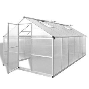 mewmewcat Serre renforcée en Aluminium avec Cadre de Base 9,025 m²