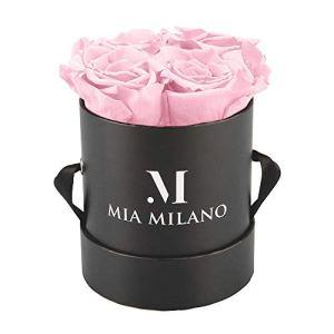 Mia Milano ® Infitnity Roses (boîte à Roses) boîte à Fleurs avec des Fleurs conservées I 3 Ans de durabilité (Medium, Medium Noir – Rose)