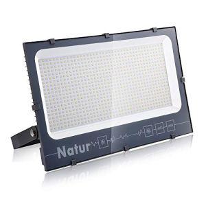 Natur Projecteur LED Extérieur 600W 60000lm IP66 Imperméable spot led exterieur Blanc froid(6000k) 100% Sécurité Floodlight pour Jardin Cour Terrasse Square Usine[Classe énergétique A ++]