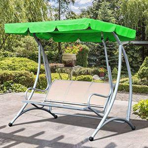 Ntribut Auvent de Rechange pour balancelle de Jardin Protection Contre la poussière Imperméable 195 x 125 x 15 cm