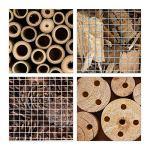 Relaxdays Hôtel à insectes HxLxP 48x31x10 cm Abri en Bois pour Papillons Abeilles Coccinelles Guêpes Naturel