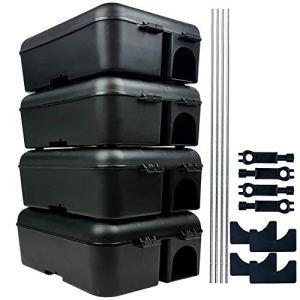 Roshield 4X Rat et boîte appât de sécurité des rongeurs de la Souris (Vide)