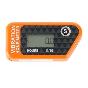 Runleader RL-HM016B Vibration compteur horaire avec sans fil pour tous les VTT de moteur à essence UTV dirtbike motobike motocycle outboards motoneige pitbike PWC bateau marin étanche (orange)