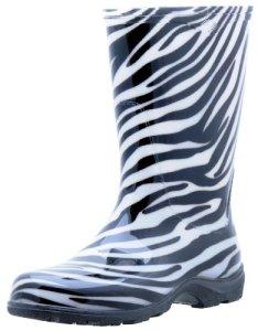 Sloggers Femmes de pluie et de coffre de jardin avec «all-day-comfort Semelle intérieure, imprimé zèbre–WO de style–Taille 6–5006ze06