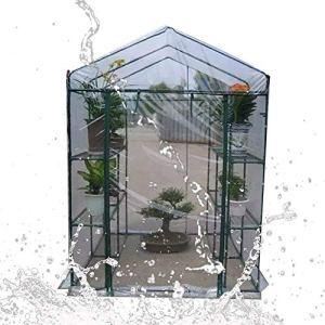 SOAR Serre de Jardin Serres Jardinage Succulentes Plante en Pot Fleurs Isolation Thermique étanche à la Pluie (Color : Clear, Size : 143x143x195cm)