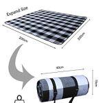 SwissWell Couverture Picnic 200X200 CM (4-7 Personnes), imperméable, Résiste à l'humidité, épaissie Pliable Couverture Tapis de Pique-Nique pour Camping Plage Voyager avec Sac et Bande (Treillis)