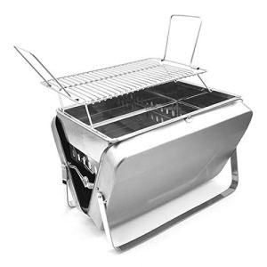 TREEMEN Pliable Portable Barbecues,Barbecue à Charbon,BBQ De Bois pour La Cuisine en Plein Air, Le Camping, La Randonnée, Les Pique-niques – for 3-6 Personnes,Silver