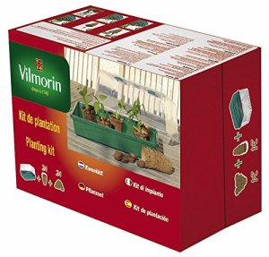 Vilmorin 3990625 Kit de Serre Rigide + 24 Godets Coco 6 cm + 24 Pastilles Fibre de Coco Compressée