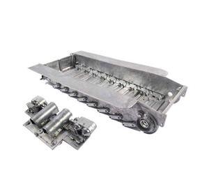 Without brand LSB-CHUNJIE3, Mato 1/16 Tiger I RC de réservoirs en métal Châssis Torsion Bar Suspensions Piste Tendeur Panneau arrière for Heng Long 3818 Tiger 1 réservoir