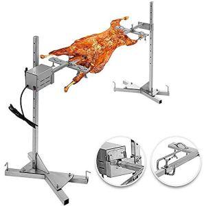 WYZXR Kit de rôtissoire Barbecue Tige de Broche électrique Automatique Grand Gril extérieur rôtissoire Tige de rôtissoire à Broche 15W Kit de rôtissoire Universel
