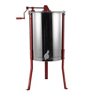 Zerone Extracteur de miel manuel, séparateur de miel en acier inoxydable de melario Extracteur de miel acier inoxydable Apollo Tampons pour Apiculture en acier inoxydable 4 Favi