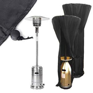 420D Housse pour parasol chauffant, Couverture de Chauffe-Patio, Housse pour Parasol Chauffant Rond, Noir Protection Parasol Chauffant,Housse de Protection pour Chauffage de terrasse (226x85x48CM)