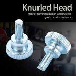 50 pièces étape réglable Double poignée vis moletée à tête haute M5 vis à tête moletée type d'épaule en acier inoxydable(M5*35)