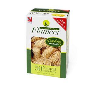 Allume-feu Flamers F50naturel pour barbecue et poêles, marron, lot de 50