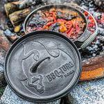 BBQ-Toro Dutch Oven Série Alpha | déjà brûlé | Différentes tailles | Marmite en fonte | Rôtissoire avec lève-couvercle