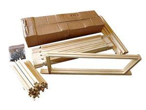 Beekeeping Supplies UK 10 x SN1 Super Cadres pour Ruches Britanniques Emballage à Plat Cadre Ruche avec Barres latérales Droites