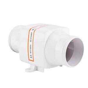 Bilinli Ventilateur de Ventilation de Moteur de têtes de Ventilateur de cale électrique en Ligne de 3 po 130CFM 12V