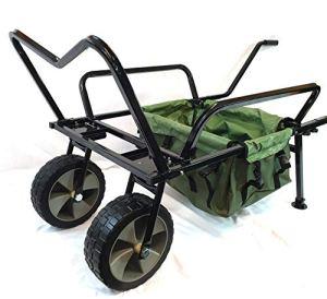 Bison Chariot de pêche à deux roues avec sac de brouette