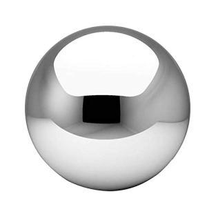 Boule creuse en acier inoxydable, boule creuse à paillettes, globes flottants pour bassin sans coutures miroir pour décoration de maison, jardin, fête 120mm Voir image