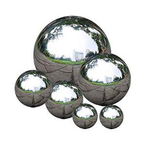 Boules de Regard en Acier Inoxydable, zosenda 6 Pcs 50-150 mm Boule de Miroir sans Soudure Balle Poli flottante, Boule Creuse Miroir de la Maison Poli Boule de Jardin Décoration