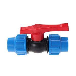 Buzzfashionfashionfashion Valve à Bille en Plastique, Robinet à Bille 32mm (1″), Raccord de Compression pour Tuyau d'eau, pour Une Utilisation en Irrigation