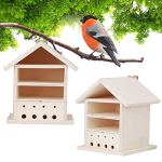 chengong Boîte à Oiseaux en Bois de Paulownia Fortunei de Haute qualité, boîte à Oiseaux en Bois à Peindre, décoration de Jardin Durable Bluebirds
