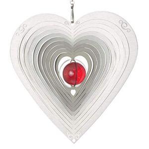 CIM Mobile décoratif en acier inoxydable – Herz Ornament 165 – Dimensions: 17x17cm – inclu émerillon à roulement à billes, crochet et fin de nylon – décoration attractive à suspendre en acier inoxydable