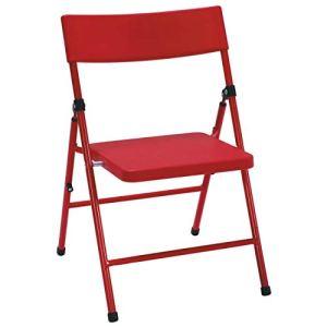 COSCO Kid's Chaise Pliante pour Enfants sans pincement x 4, Rouge, 40 x 35,6 x 57,5 cm