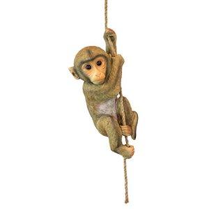 Design Toscano Chico le Chimpanzé Bébé Singe Statue d'Animal Suspendu, 40.75 cm, polyrésine, palette complète de couleur