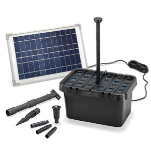 Eotec 100901 Kit complet de filtres de bassin à énergie solaire 650 l/h + module solaire 12 W