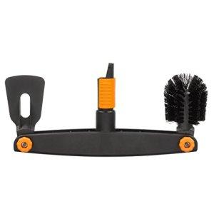 Fiskars Nettoyeur de gouttière, Avec grattoir et brosse ajustables, Tête d'outil QuikFit, Largeur: 4,5 cm, Noir/Orange, QuikFit, 1001414