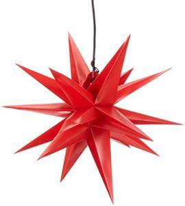 HGD asc7951en plastique extérieur Étoile, rouge