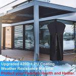 Housse de protection pour chauffage de terrasse en tissu Oxford 420D imperméable avec fermeture éclair, 226 x 85 x 48 cm, revêtement en polyuréthane, anti-UV.