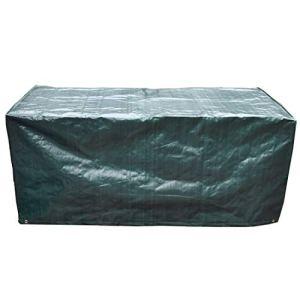 Housse de protection pour table de terrasse – 170 x 95 x 70 cm – Imperméable et respirante – En polypropylène – Pour meubles de jardin – Vert