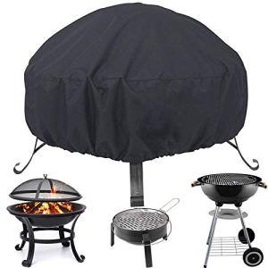 Housse de protection ronde pour foyer, 85 x 40 cm, avec cordon de serrage pour imperméable, coupe-vent, résistant aux UV pour four, table à manger et chaises, jardin et terrasse