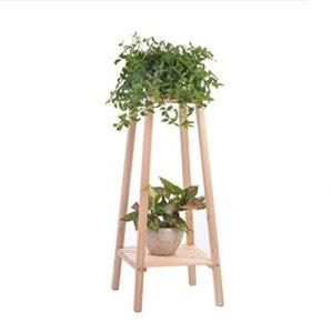 Hyzb Fleur de Bois Solide Anti-corrosif Sol Multicouche intérieur extérieur Fleur Pot Petite étagère (Size : 75cm)