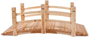 Jardin Bridge – Bois, 140x60x53cm, Décoration de jardin – Pondre de l'étang, Pond Bridge, Passerelle en bois,wood